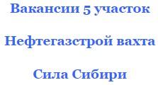 Работа вахтой Нефтегазстрой работать над Силой Сибири