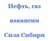 Газ и нефть Сила Сибири вакансии вахтой должности майские