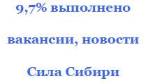 Свежие сентябрьские вакансии для @ фирм Сила Сибири