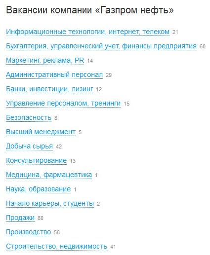 ищу работу в Газпром Нефть