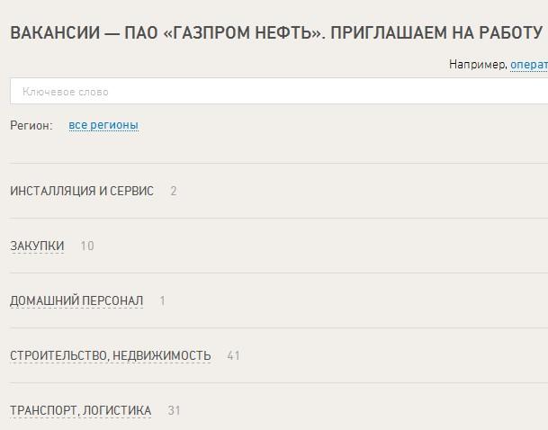 Должности вахтой Газпром Нефть вахта