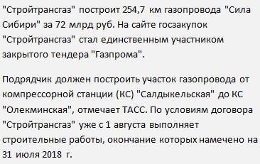 Вакансии на официальном сайте Сила Сибири в компании Стройтрансгаз на вахту